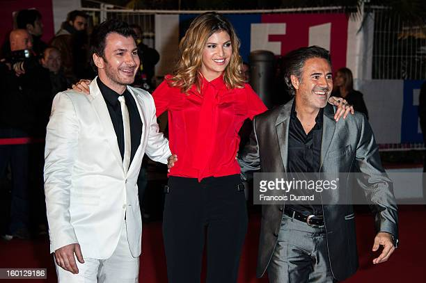 Jose Garcia Isabelle Funaro and Michael Youn attend the NRJ Music Awards 2013 at Palais des Festivals on January 26 2013 in Cannes France