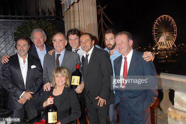 Jose Garcia The Chateau Angelus Owner Claude Brasseur Daniele Thompson Marc Lavoine Patrick Timsit Frederic Diefenthal and A Guest attend the Chateau...