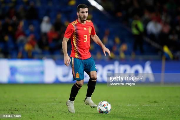 Jose Gaya of Spain during the UEFA Nations league match between Spain v Bosnia and Herzegovina at the Estadio de Gran Canaria on November 18 2018 in...