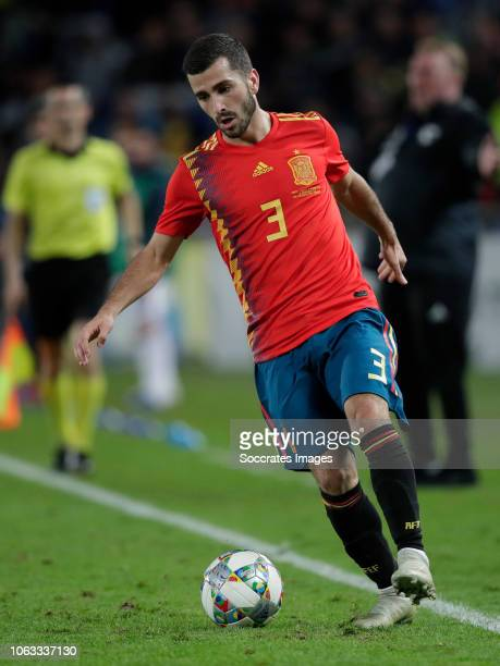 Jose Gaya of Spain during the UEFA Nations league match between Spain v Bosnia and Herzegovina at the Estadio de Gran Canaria on November 18 2018 in...