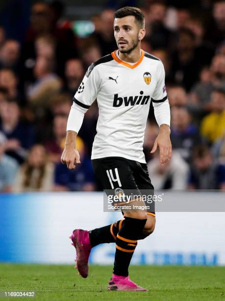 Jose Gaya of Valencia CF during the UEFA Champions League match between Chelsea v Valencia at the Stamford Bridge on September 17 2019 in London...