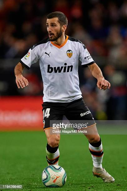 Jose Gaya of Valencia CF in action during the Liga match between Valencia CF and Real Madrid CF at Estadio Mestalla on December 15 2019 in Valencia...