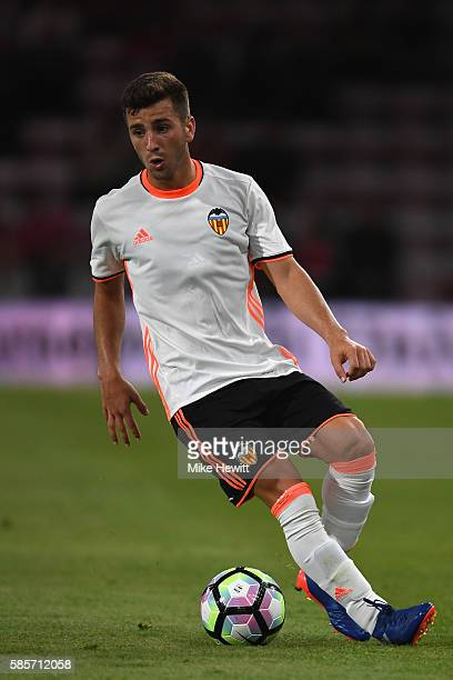 Jose Gaya of Valencia in action during a preseason friendly between Bournemouth and Valencia at the Vitality Stadium on August 3 2016 in Bournemouth...