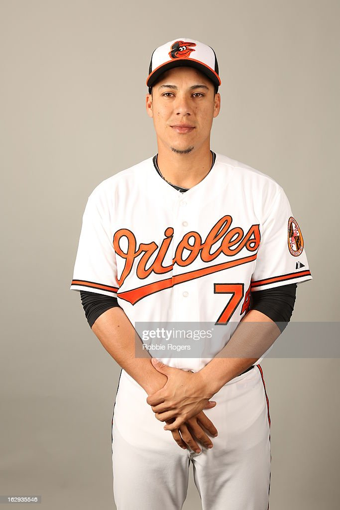 Jose Gil of the Baltimore Orioles poses during Photo Day on