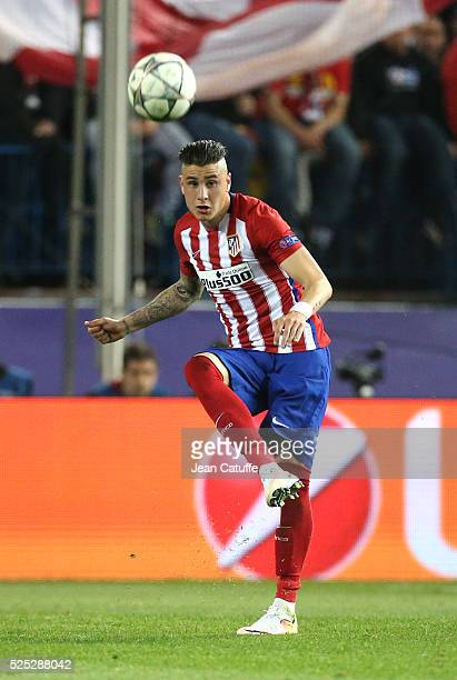 Jose Gimenez of Atletico Madrid in action during the UEFA Champions League semi final first leg match between Club Atletico Madrid and FC Bayern...
