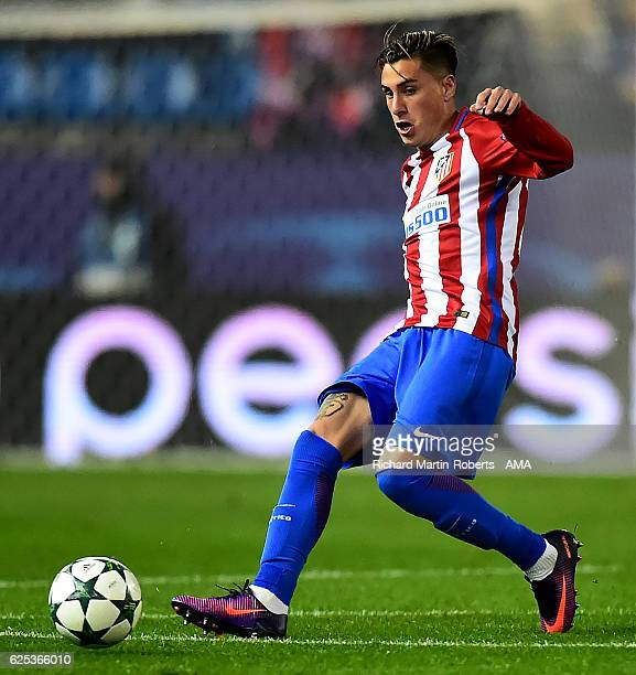 Jose Gimenez of Atletico Madrid in action during the UEFA Champions League match between Club Atletico de Madrid and PSV Eindhoven at Vicente...