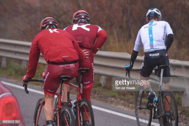 Jose Goncalves of Portugal / Marcel KITTEL of Germany / Vasil Kiryienka of Belarus / during the 53rd TirrenoAdriatico 2018 Stage 5 a 178km stage from...