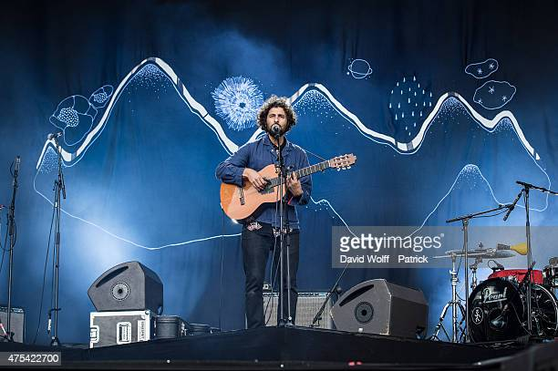 Jose Gonzalez performs at We Love Green Festival on May 31 2015 in Paris France