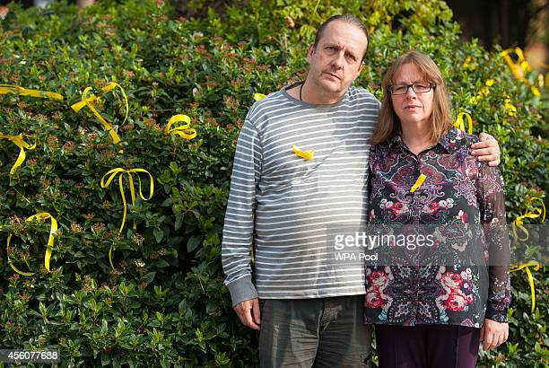 Jose Gross and Rosalind Hodgkiss the parents of missing teenager Alice Gross are pictured near their home in Hanwell on September 25 2014 in London...