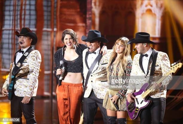 Jose Guadalupe Esparza and his group Bronco perform with Ashley Grace Perez Mosa and Hanna Nicole Perez Mosa of HaAsh perform onstage during the 18th...
