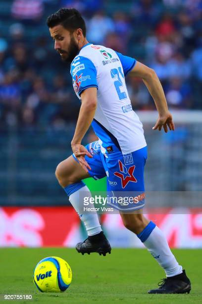 Jose Guerrero of Puebla drives the ball during the 8th round match between Cruz Azul and Puebla as part of the Torneo Clausura 2018 Liga MX at Azul...