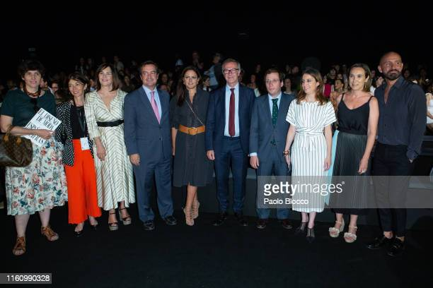 Jose Guirao Andrea Levy and Jose Luis MartineAlmeida attend Devota Lomba fashion show during the Mercedes Benz Fashion Week Spring/Summer 2020 on...