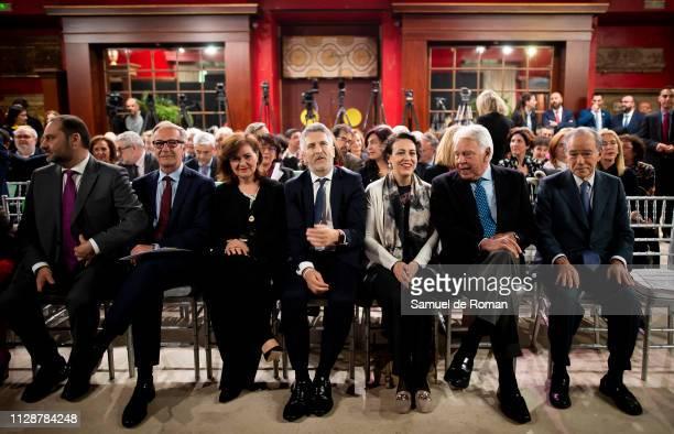 Jose Guirao Carmen Calvo Fernando Grande Marlaska Magdalena Valerio and Felipe Gonzalez attend the Carmen Alborch's Tribute on March 5 2019 in Madrid...