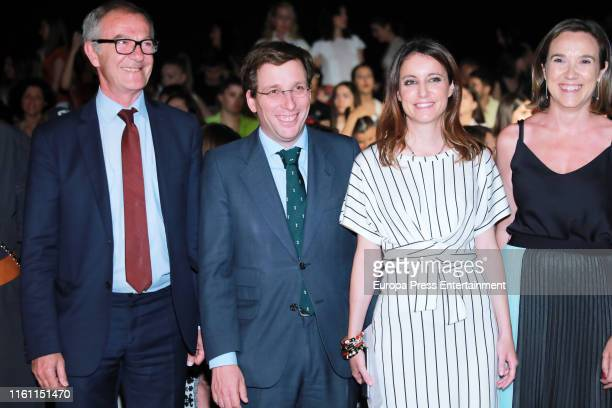 Jose Guirao Jose Luis MartineAlmeida and Andrea Levy attend Devota Lomba fashion show during the Mercedes Benz Fashion Week Spring/Summer 2020 on...
