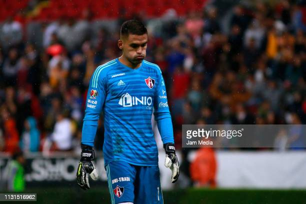 Jose Hernandez Goalkeeper of Atlas reacts after a defeat the 8th round match between Atlas and Tigres UNAL as part of the Torneo Clausura 2019 Liga...