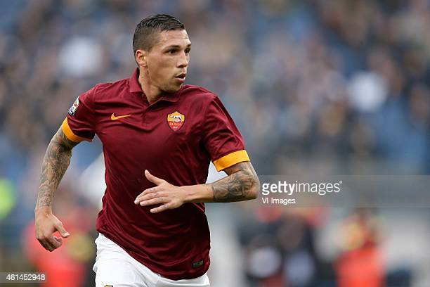 Jose Holebas of AS Roma during the Serie A match between AS Roma and Lazio Roma on January 112014 at the Stadio Olimpico in Rome Italy