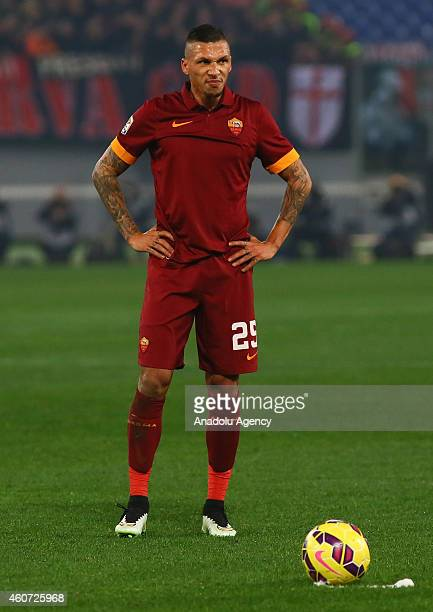 Jose Holebas of AS Roma is seen during the Serie A match between AS Roma and AC Milan at Stadio Olimpico on December 20 2014 in Rome Italy