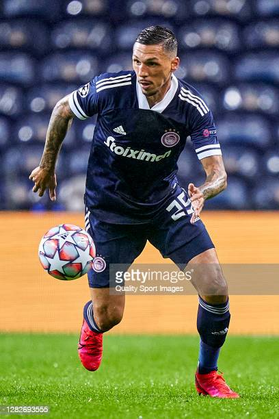 Jose Holebas of Olympiacos FC in action during the UEFA Champions League Group C stage match between FC Porto and Olympiacos FC at Estadio do Dragao...