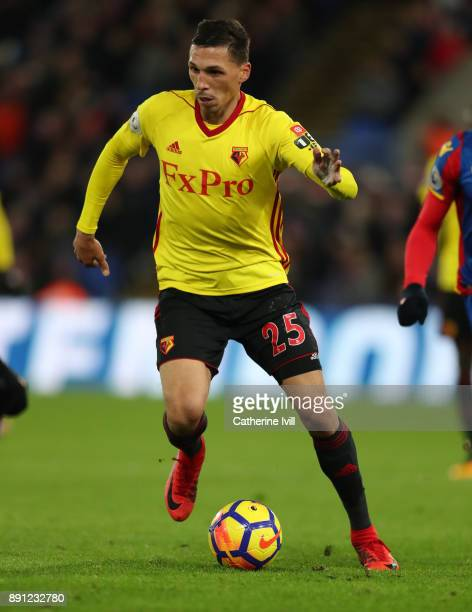 Jose Holebas of Watford during the Premier League match between Crystal Palace and Watford at Selhurst Park on December 12 2017 in London England