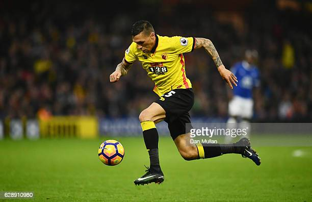 Jose Holebas of Watford in action during the Premier League match between Watford and Everton at Vicarage Road on December 10 2016 in Watford England