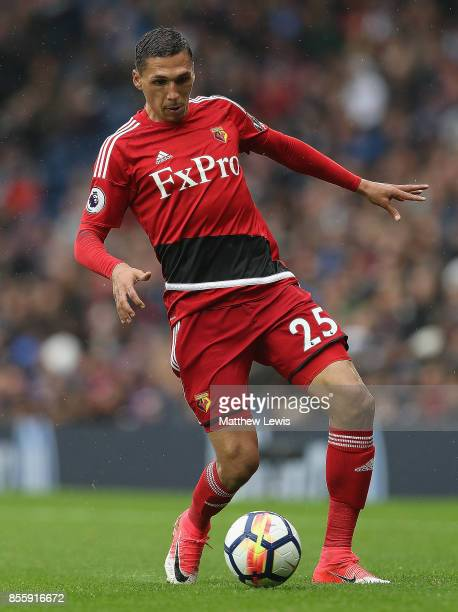 Jose Holebas of Watford in action during the Premier League match between West Bromwich Albion and Watford at The Hawthorns on September 30, 2017 in...