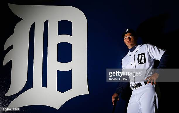 Jose Iglesias of the Detroit Tigers poses for a portrait during photo day on February 23 2014 at Joker Marchant Stadium in Lakeland Florida