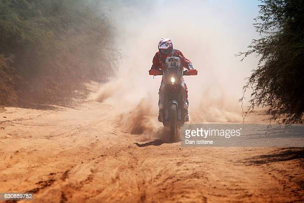 Jose Ignacio Cornejo Florimo of Chile and KTM XRaids rides a 450 Rally Replica KTM bike in the Classe 21 Super Production during stage two of the...