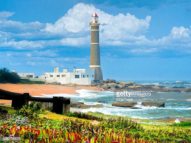 jose ignacio lighthouse - jose ignacio lighthouse stock photos and pictures