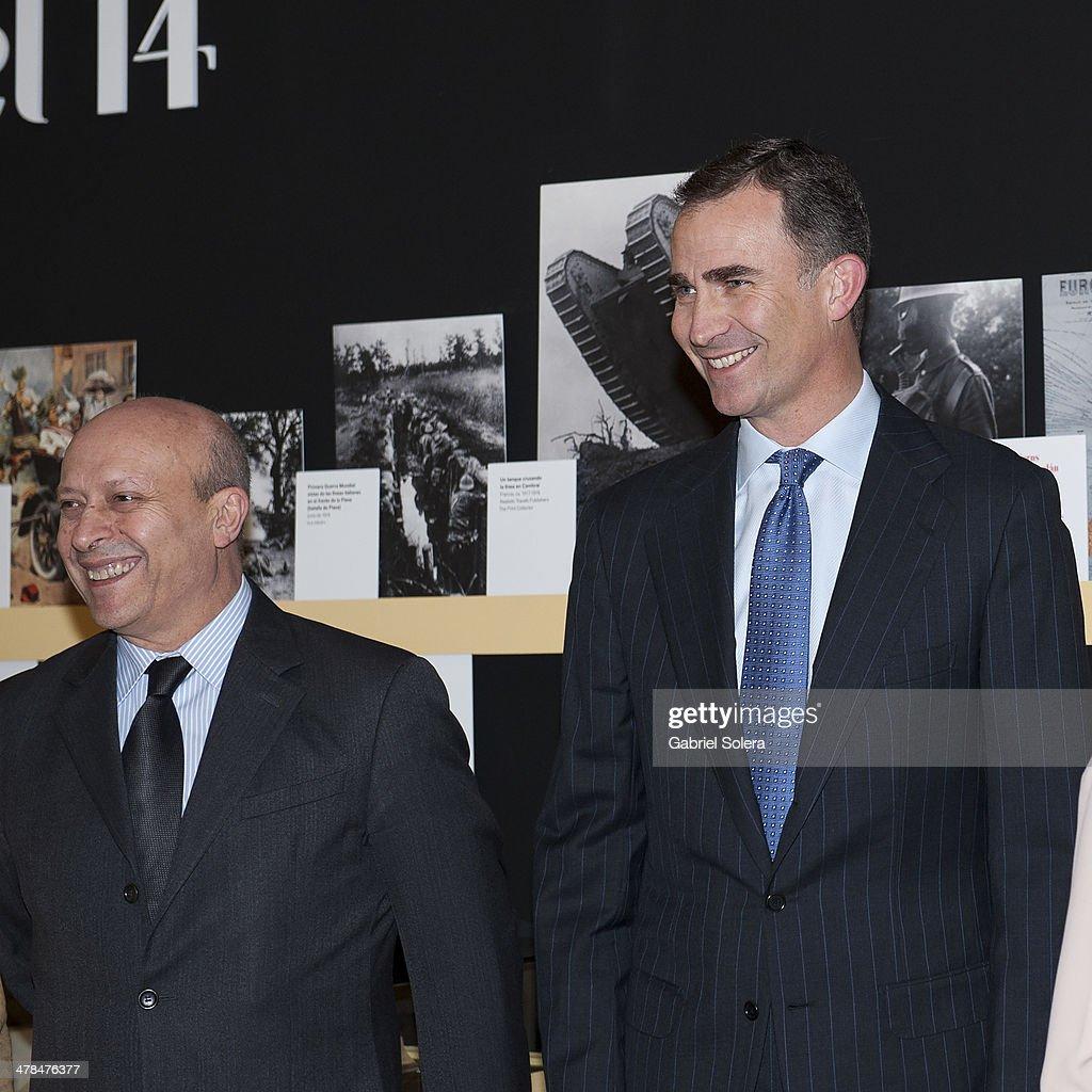 Prince Felipe of Spain Attends 'La generacion del 14. Ciencia y Modernidad' Exhibition Opening