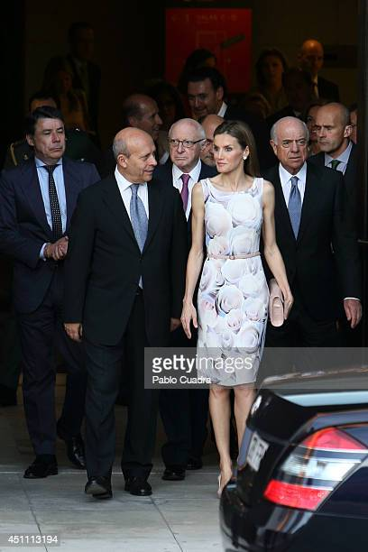 Jose Ignacio Wert and Queen Letizia of Spain attends The Opening of 'El Greco y La Pintura Moderna' Exhibition at El Prado Museum on June 23 2014 in...