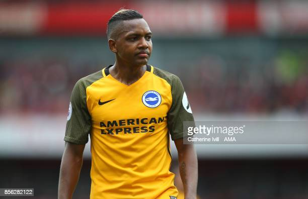 Jose Izquierdo of Brighton and Hove Albion during the Premier League match between Arsenal and Brighton and Hove Albion at Emirates Stadium on...