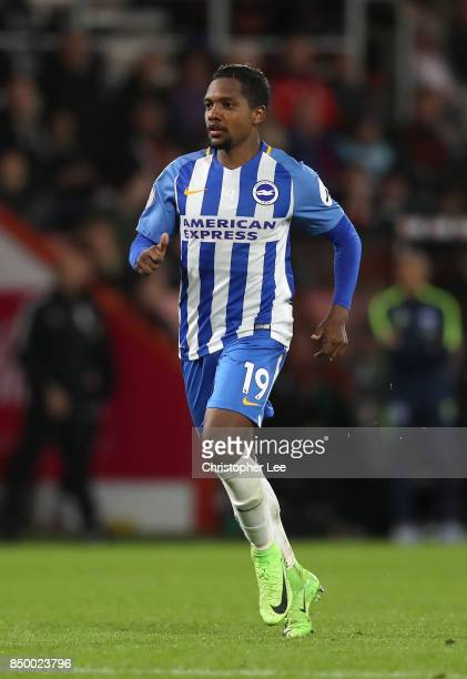 Jose Izquierdo of Brighton and Hove Albion in action during the Carabao Cup Third Round match between Bournemouth and Brighton and Hove Albion at...