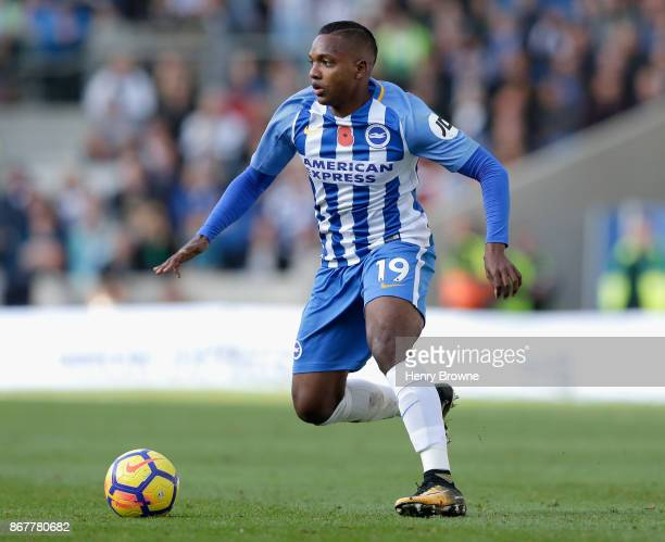 Jose Izquierdo of Brighton and Hove Albion in action during the Premier League match between Brighton and Hove Albion and Southampton at Amex Stadium...