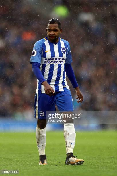 Jose Izquierdo of Brighton and Hove Albion looks on during the Premier League match between Brighton and Hove Albion and AFC Bournemouth at Amex...