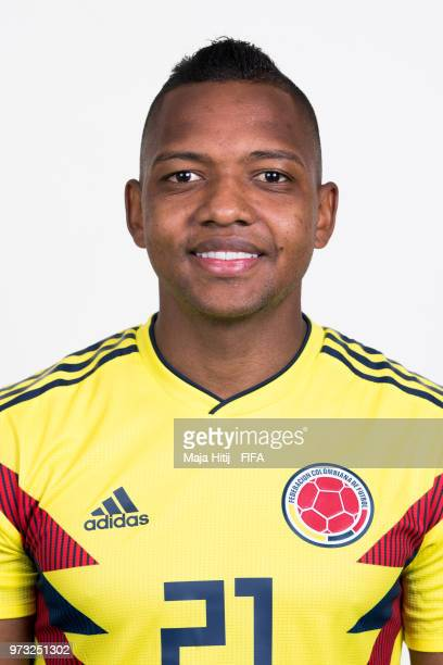 Jose Izquierdo of Colombia poses for a portrait during the official FIFA World Cup 2018 portrait session at Kazan Ski Resort on June 13 2018 in Kazan...