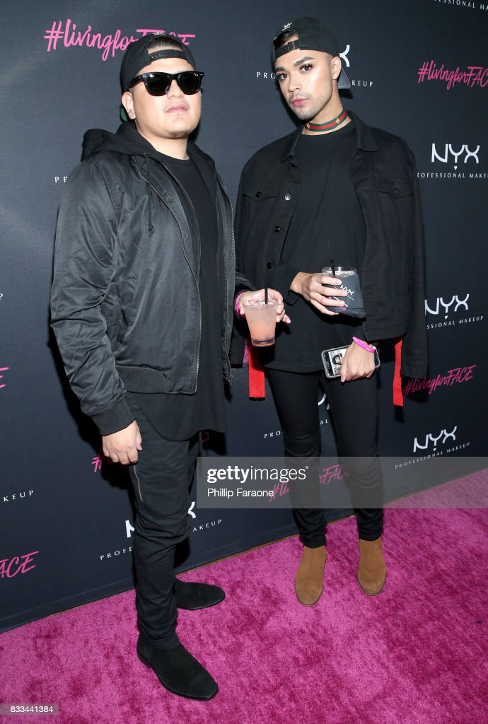 Jose Jimenez (R) and guest at the FACE Awards International Welcome Party at Andaz Hotel on August 16, 2017 in Los Angeles, California.