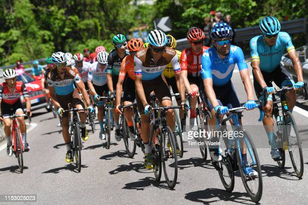 Jose Joaquin Rojas Gil of Spain and Movistar Team / Larry Warbasse of United States and and Team AG2R La Mondiale / Andrey Zeits of Kazahkstan and...