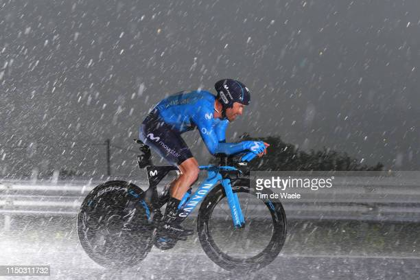 Jose Joaquin Rojas Gil of Spain and Movistar Team / Rain / during the 102nd Giro d'Italia 2019, Stage 9 a 34,8km Individual Time Trial from Riccione...