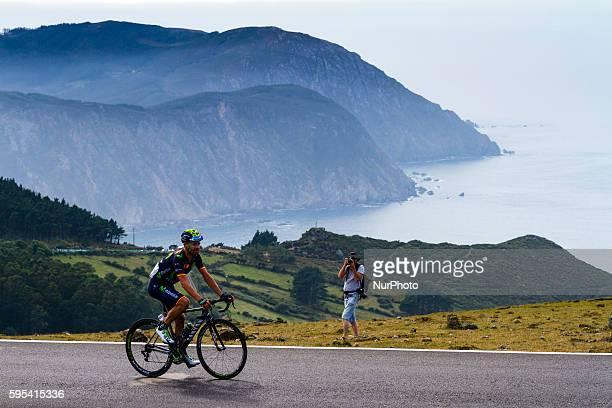Jose Joaquin Rojas / Movistar Team during 71st La Vuelta España 2016 / Stage 4: Betanzos - San Andrés de Teixido on August 23 Spain.
