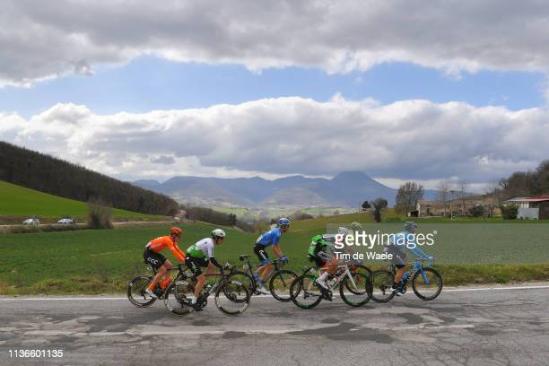 Jose Joaquin Rojas of Spain and Movistar Team / Benjamin King of The United States and Team Dimension Data / Davide Ballerini of Italy and Astana Pro...