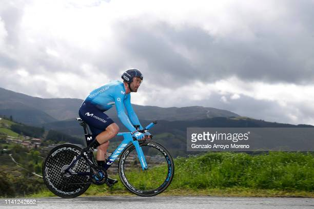 Jose Joaquin Rojas of Spain and Movistar Team / during the 59th Itzulia-Vuelta Ciclista Pais Vasco 2019, Stage 1 a 11,2km Individual Time Trial stage...