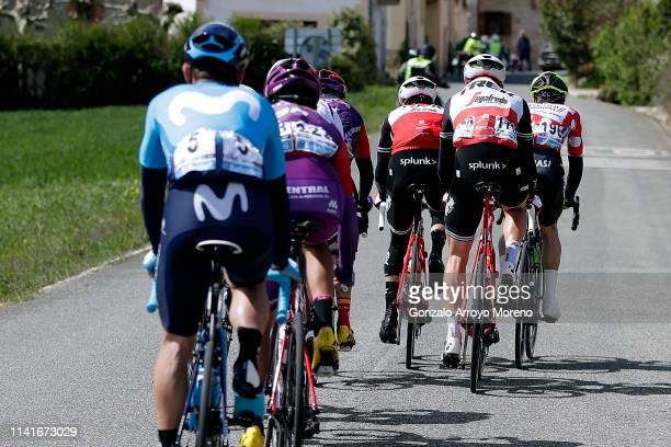 Jose Joaquin Rojas of Spain and Movistar Team / Jose Fernandes of Portugal and Team Burgos - BH / Benjamin King of The United States and Team...