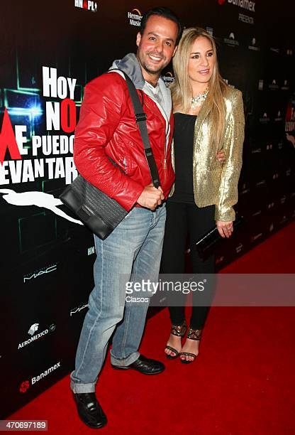 Jose Joel attends the red carpet of Hoy no me puedo levantar at Almada Theater on February 18 2014 in Mexico City Mexico