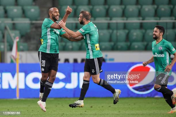 Jose Kante of Legia celebrates scoring a goal during UEFA Champions League First Qualifying Round match between Legia Warsaw and Linfield at Stadion...