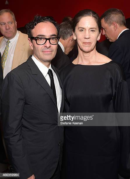 Jose Kuri and Connie Butler attend the 2015 REDCAT Gala Honoring Jamie And Michael Lynton And Gabriel Orozco at REDCAT Theater on March 14 2015 in...