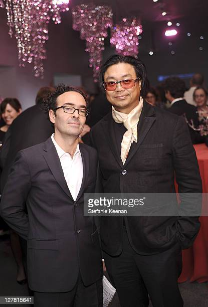 Jose Kuri and Rirkrit Tiravanija attend 2011 REDCAT Gala Honoring Eli Edythe Broad and Apichatpong Weerasethakul at REDCAT on March 19 2011 in Los...