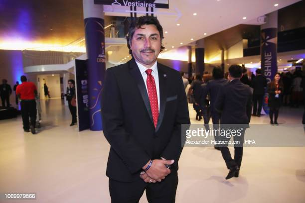 Jose Letelier coach of Chile arrives for the FIFA Women's World Cup France 2019 Draw at La Seine Musicale on December 8 2018 in Paris France