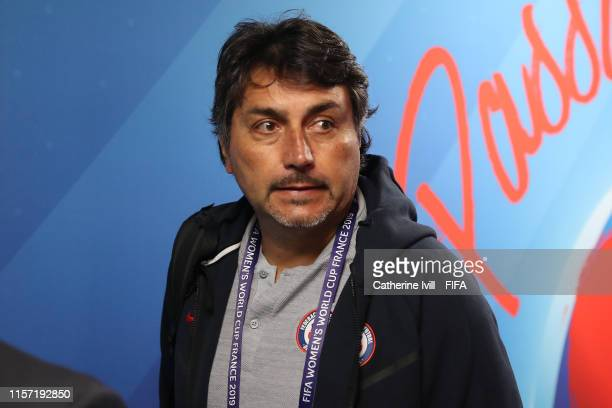 Jose Letelier Head Coach of Chile arrives prior to the 2019 FIFA Women's World Cup France group F match between Thailand and Chile at Roazhon Park on...