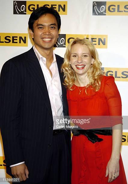 Jose Llana and Sarah Saltzberg during 2006 GLSEN Respect Awards in New York City New York United States