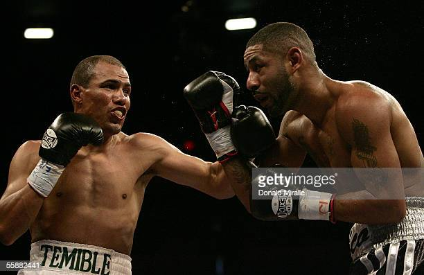 Jose Luis Castillo of Mexico connects on a punch against Diego Chico Corrales during their Bout October 8 2005 at the Thomas Mack Center on the...